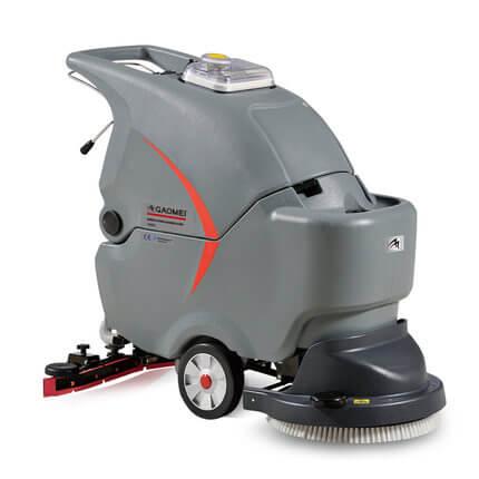 高美GM50拖线式洗地机 手推半自动洗地机